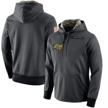 Men's Nike Tampa Bay Buccaneers Anthracite Salute to Service Player Performance Hoodie -