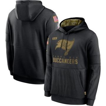 Men's Nike Tampa Bay Buccaneers Black 2020 Salute to Service Sideline Performance Pullover Hoodie -
