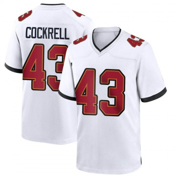 Men's Nike Tampa Bay Buccaneers Ross Cockrell White Jersey - Game