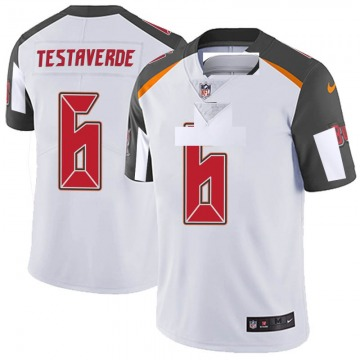Men's Nike Tampa Bay Buccaneers Vincent Testaverde White 6 Vapor Untouchable Jersey - Limited