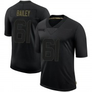 Men's Nike Tampa Bay Buccaneers Zack Bailey Black 2020 Salute To Service Jersey - Limited