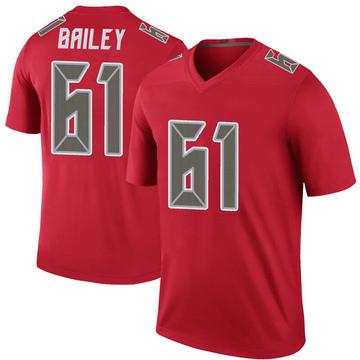 Men's Tampa Bay Buccaneers Zack Bailey Red Color Rush Jersey - Legend