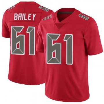 Men's Tampa Bay Buccaneers Zack Bailey Red Color Rush Jersey - Limited