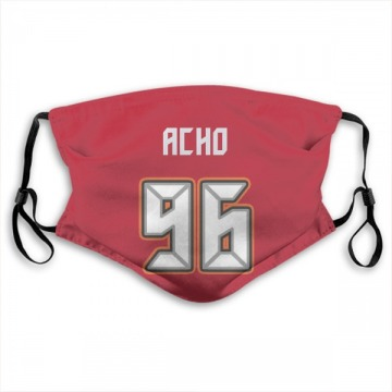 Tampa Bay Buccaneers Sam Acho Red Jersey Name & Number Face Mask
