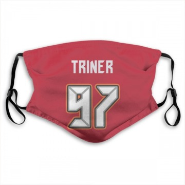 Tampa Bay Buccaneers Zach Triner Red Jersey Name & Number Face Mask