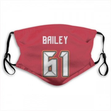 Tampa Bay Buccaneers Zack Bailey Red Jersey Name & Number Face Mask