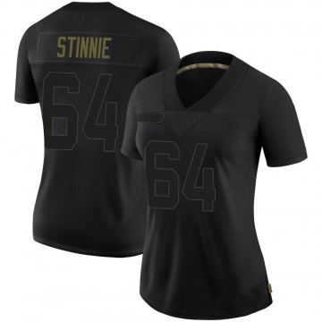 Women's Nike Tampa Bay Buccaneers Aaron Stinnie Black 2020 Salute To Service Jersey - Limited