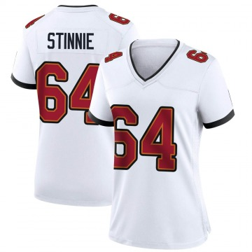 Women's Nike Tampa Bay Buccaneers Aaron Stinnie White Jersey - Game