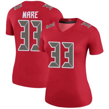 Women's Nike Tampa Bay Buccaneers Aca'Cedric Ware Red Color Rush Jersey - Legend