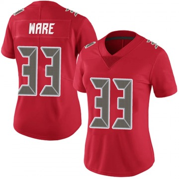 Women's Nike Tampa Bay Buccaneers Aca'Cedric Ware Red Team Color Vapor Untouchable Jersey - Limited