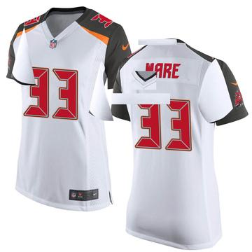 Women's Nike Tampa Bay Buccaneers Aca'Cedric Ware White Jersey - Game