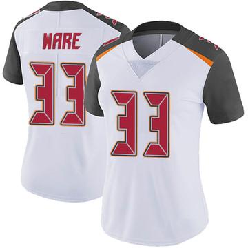 Women's Nike Tampa Bay Buccaneers Aca'Cedric Ware White Vapor Untouchable Jersey - Limited