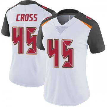Women's Nike Tampa Bay Buccaneers Alan Cross White Vapor Untouchable Jersey - Limited