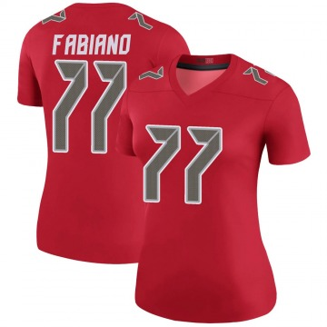 Women's Nike Tampa Bay Buccaneers Anthony Fabiano Red Color Rush Jersey - Legend