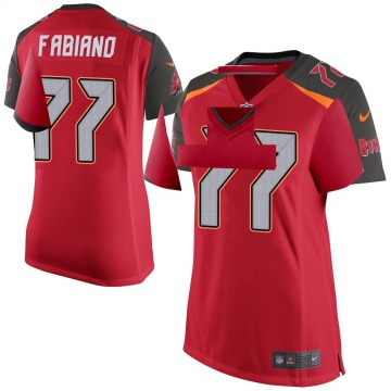 Women's Nike Tampa Bay Buccaneers Anthony Fabiano Red Team Color Jersey - Game