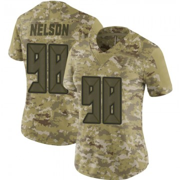 Women's Nike Tampa Bay Buccaneers Anthony Nelson Camo 2018 Salute to Service Jersey - Limited
