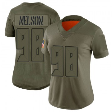 Women's Nike Tampa Bay Buccaneers Anthony Nelson Camo 2019 Salute to Service Jersey - Limited