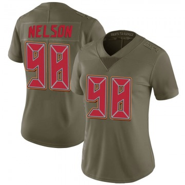 Women's Nike Tampa Bay Buccaneers Anthony Nelson Green 2017 Salute to Service Jersey - Limited