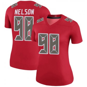 Women's Nike Tampa Bay Buccaneers Anthony Nelson Red Color Rush Jersey - Legend