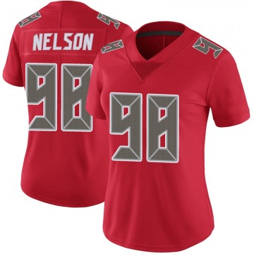 Women's Nike Tampa Bay Buccaneers Anthony Nelson Red Color Rush Jersey - Limited
