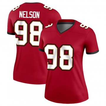Women's Nike Tampa Bay Buccaneers Anthony Nelson Red Jersey - Legend