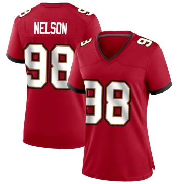 Women's Nike Tampa Bay Buccaneers Anthony Nelson Red Team Color Jersey - Game