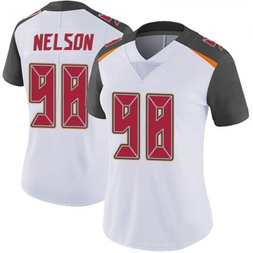 Women's Nike Tampa Bay Buccaneers Anthony Nelson White Vapor Untouchable Jersey - Limited