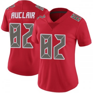 Women's Nike Tampa Bay Buccaneers Antony Auclair Red Color Rush Jersey - Limited