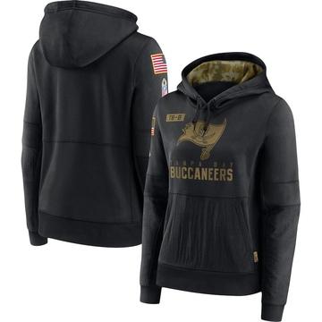Women's Nike Tampa Bay Buccaneers Black 2020 Salute to Service Performance Pullover Hoodie -