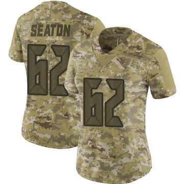 Women's Nike Tampa Bay Buccaneers Brad Seaton Camo 2018 Salute to Service Jersey - Limited