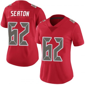Women's Nike Tampa Bay Buccaneers Brad Seaton Red Team Color Vapor Untouchable Jersey - Limited
