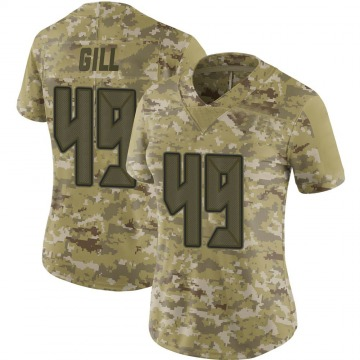 Women's Nike Tampa Bay Buccaneers Cam Gill Camo 2018 Salute to Service Jersey - Limited