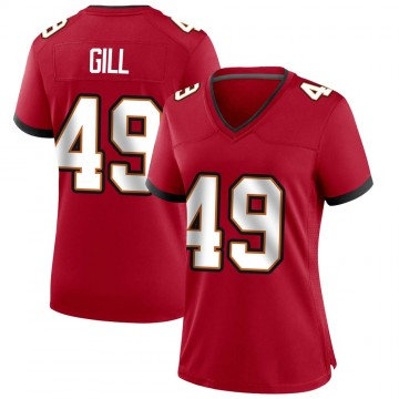 Women's Nike Tampa Bay Buccaneers Cam Gill Red Team Color Jersey - Game