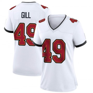 Women's Nike Tampa Bay Buccaneers Cam Gill White Jersey - Game