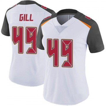 Women's Nike Tampa Bay Buccaneers Cam Gill White Vapor Untouchable Jersey - Limited