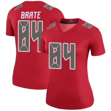 Women's Nike Tampa Bay Buccaneers Cameron Brate Red Color Rush Jersey - Legend