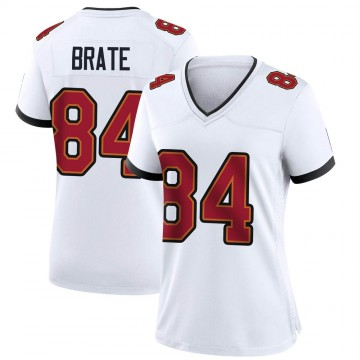 Women's Nike Tampa Bay Buccaneers Cameron Brate White Jersey - Game