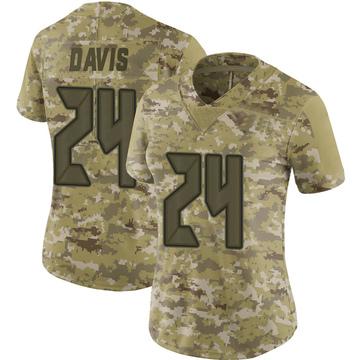 Women's Nike Tampa Bay Buccaneers Carlton Davis Camo 2018 Salute to Service Jersey - Limited