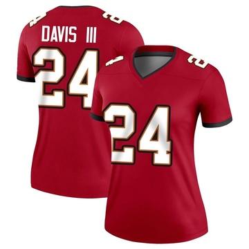 Women's Nike Tampa Bay Buccaneers Carlton Davis Red Jersey - Legend