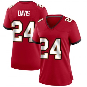 Women's Nike Tampa Bay Buccaneers Carlton Davis Red Team Color Jersey - Game