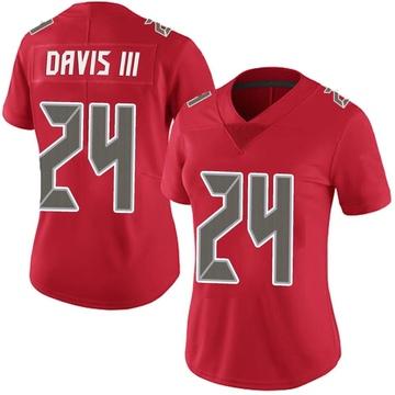Women's Nike Tampa Bay Buccaneers Carlton Davis Red Team Color Vapor Untouchable Jersey - Limited