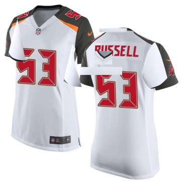 Women's Nike Tampa Bay Buccaneers Chapelle Russell White Jersey - Game