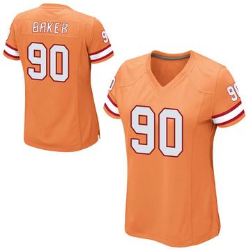 Women's Nike Tampa Bay Buccaneers Chris Baker Orange Alternate Jersey - Game