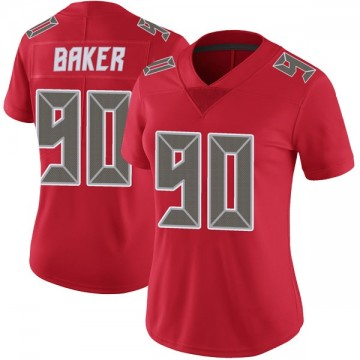 Women's Nike Tampa Bay Buccaneers Chris Baker Red Color Rush Jersey - Limited