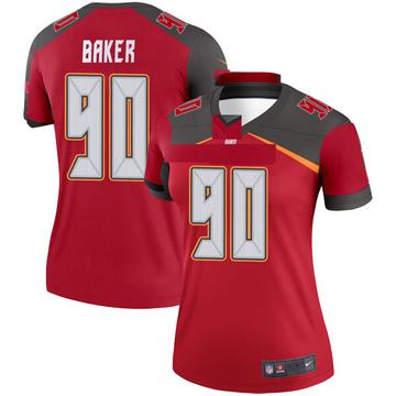 Women's Nike Tampa Bay Buccaneers Chris Baker Red Jersey - Legend