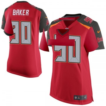 Women's Nike Tampa Bay Buccaneers Chris Baker Red Team Color Jersey - Game