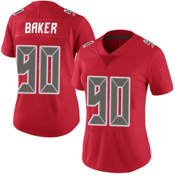 Women's Nike Tampa Bay Buccaneers Chris Baker Red Team Color Vapor Untouchable Jersey - Limited
