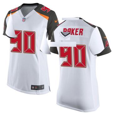 Women's Nike Tampa Bay Buccaneers Chris Baker White Jersey - Game