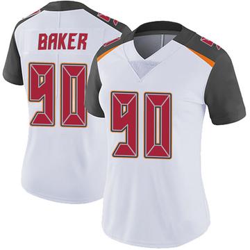 Women's Nike Tampa Bay Buccaneers Chris Baker White Vapor Untouchable Jersey - Limited