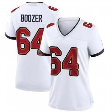 Women's Nike Tampa Bay Buccaneers Cole Boozer White Jersey - Game